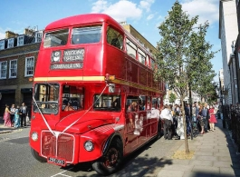 Routemaster bus for wedding hire in London